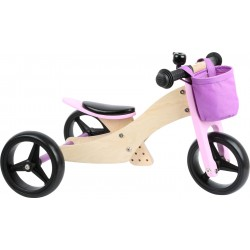 Draisienne-Tricycle 2 en 1 Rose