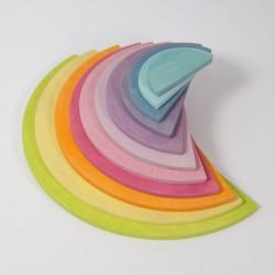 Grands demi-cercles – 11 pièces pastel
