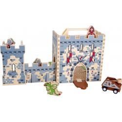 Château fort dans la valise