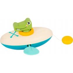 Jouet aquatique, Crocodile en canoë