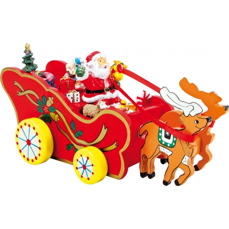 Boîte à musique «Traineau de Noël»