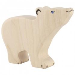 Ours polaire, petit, tête haute