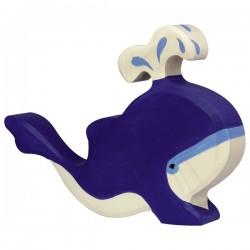 Baleine bleue avec eau