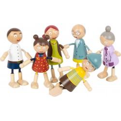 Famille de poupées souples en bois
