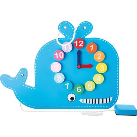 Horloge Educative et Tableau Baleine